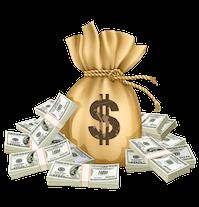 real money casino bag of cash